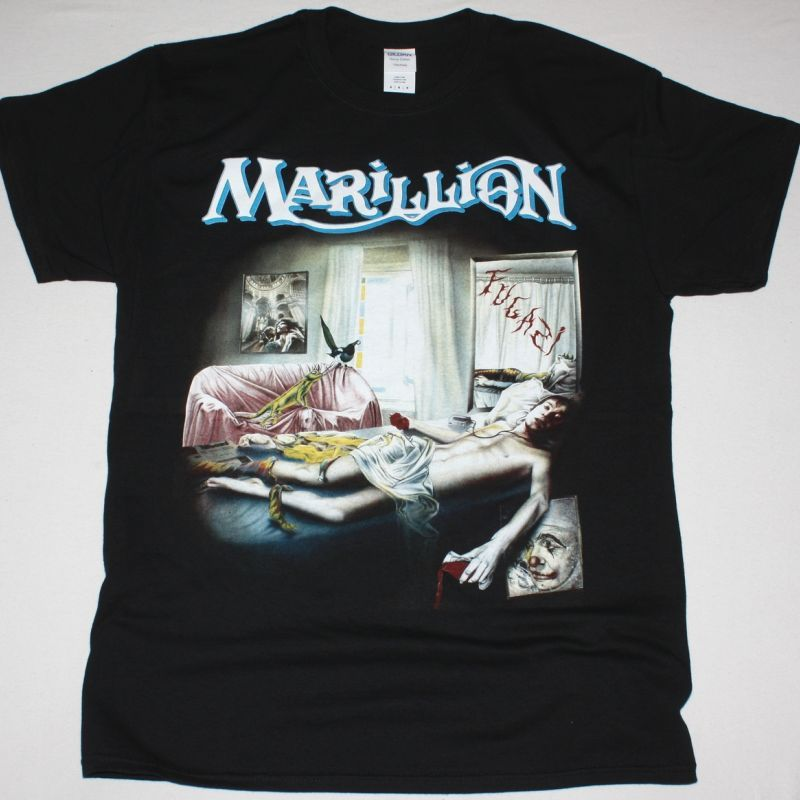 MARILLION FUGAZI 1984 NEW BLACK T-SHIRT