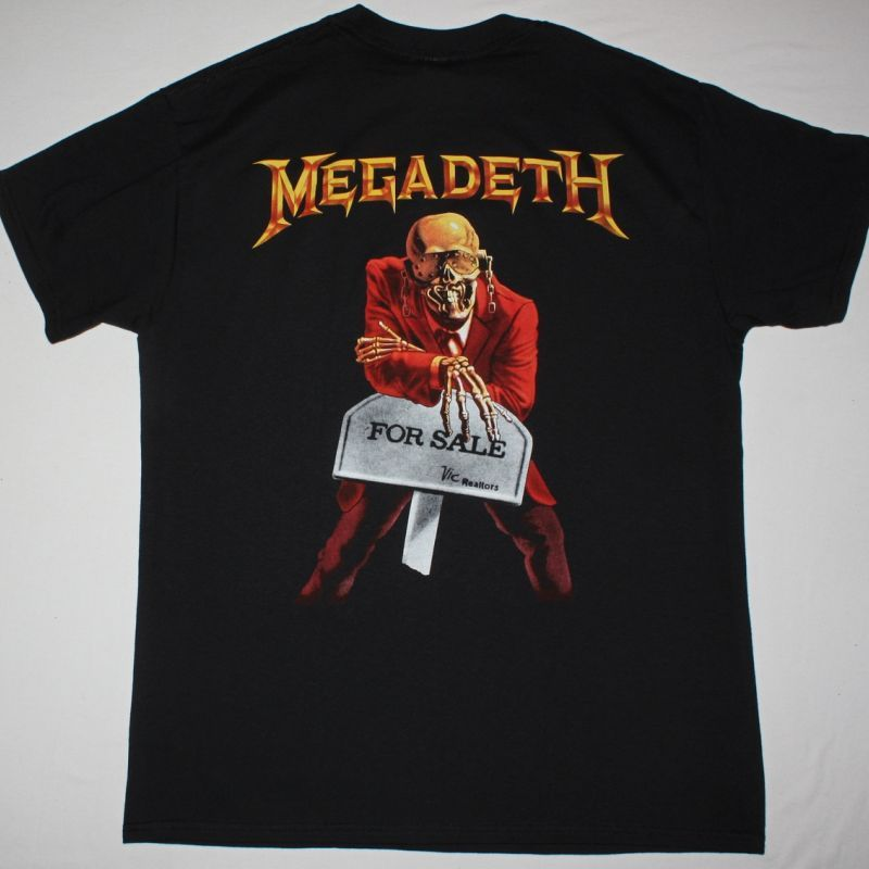 MEGADETH PEACE SELLS BUT WHO'S BUYING 1986 NEW BLACK T-SHIRT