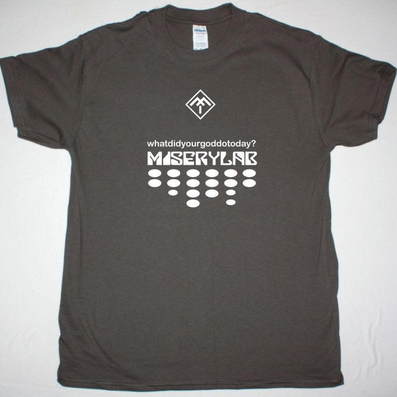 MISERYLAB FUNCTION CREEP WHATDIDYOURGODDOTODAY NEW GREY T-SHIRT