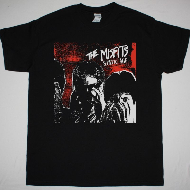 MISFITS STATIC AGE NEW BLACK T SHIRT