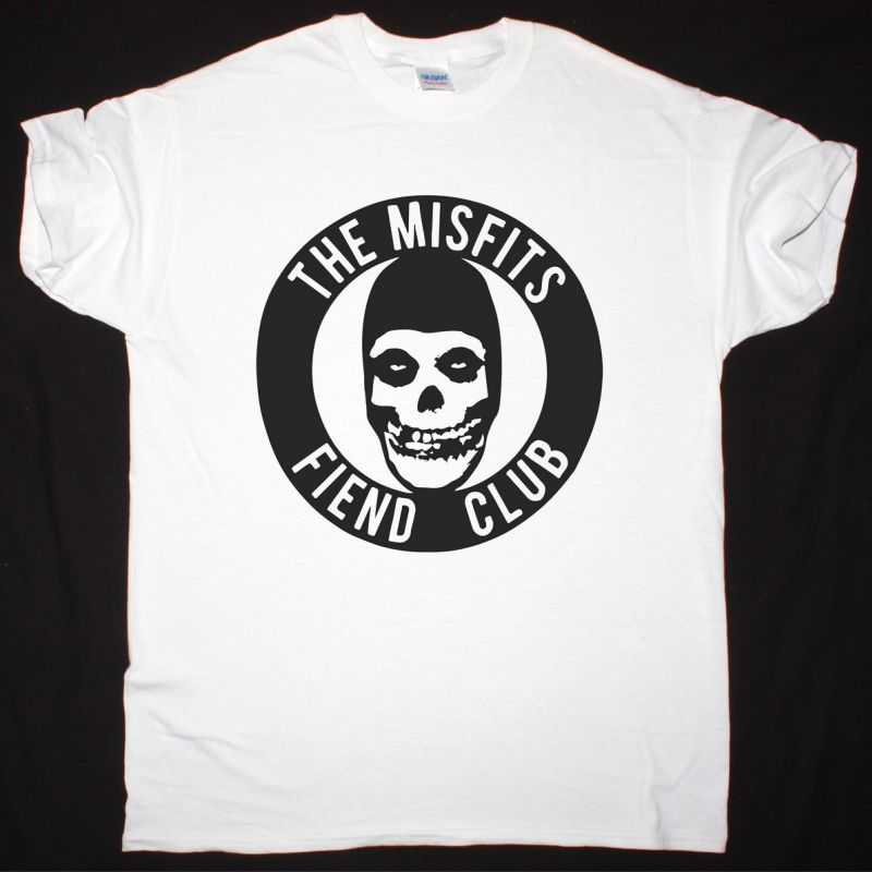 MISFITS THE MISFITS FIEND CLUB NEW WHITE T-SHIRT