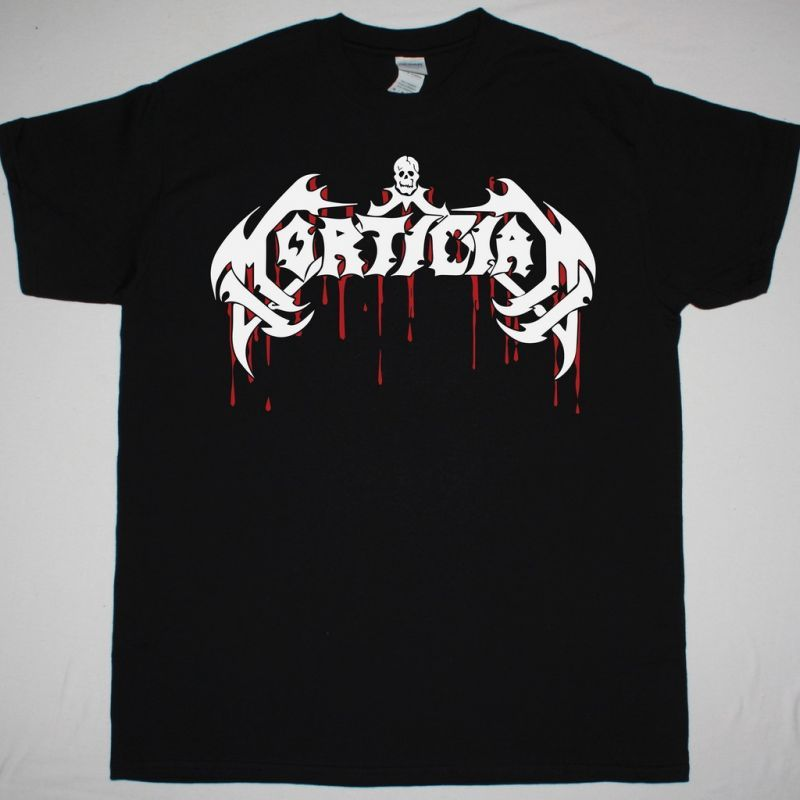 MORTICIAN BLOODY LOGO NEW BLACK T-SHIRT