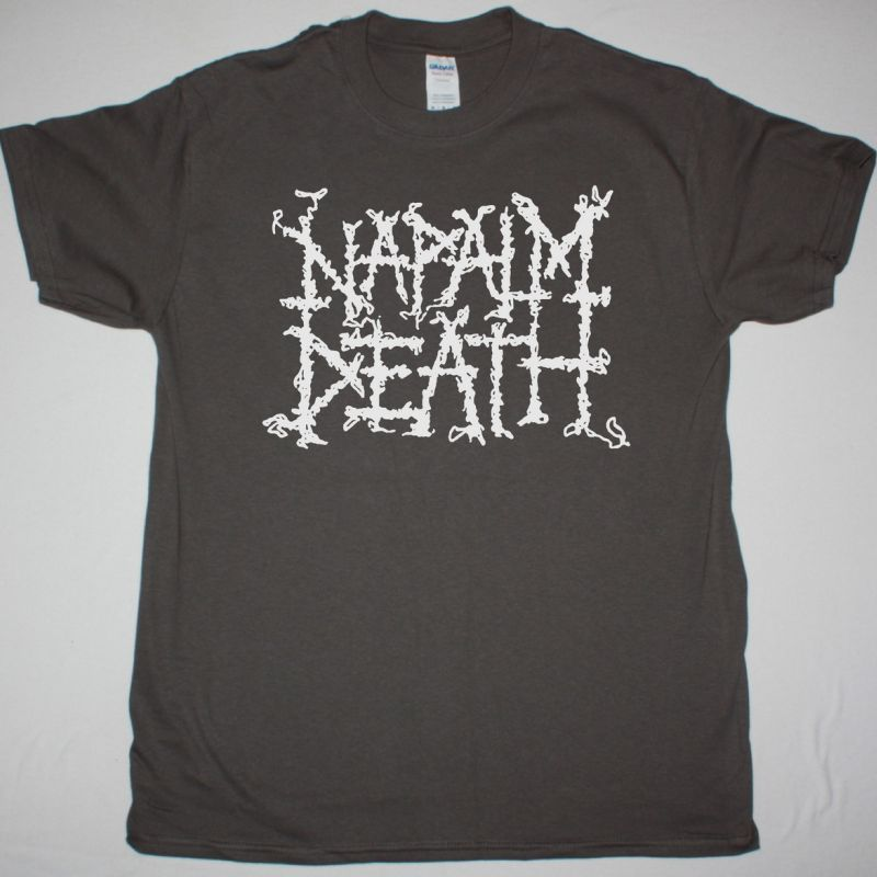NAPALM DEATH LOGO NEW GREY T-SHIRT