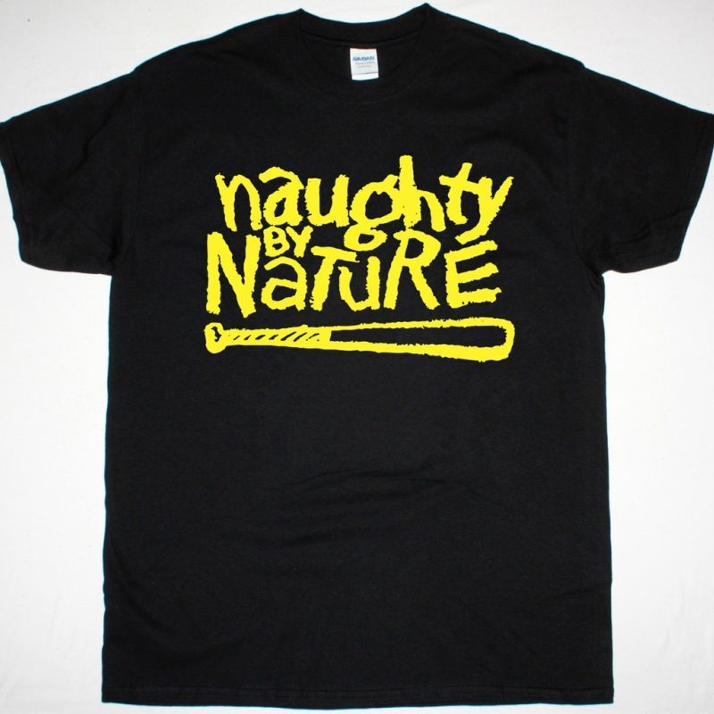 NAUGHTY BY NATURE LOGO NEW BLACK T-SHIRT