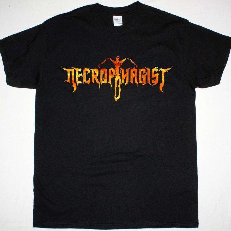 NECROPHAGIST LOGO TEE NEW BLACK T-SHIRT