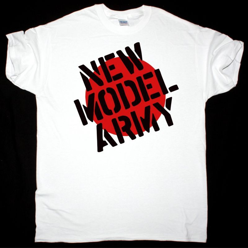 NEW MODEL ARMY CLASSIC LOGO NEW WHITE T SHIRT