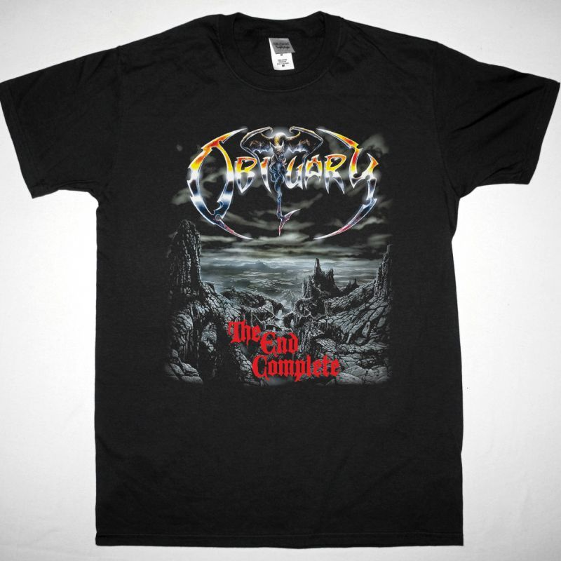OBITUARY THE END COMPLETE NEW BLACK T-SHIRT