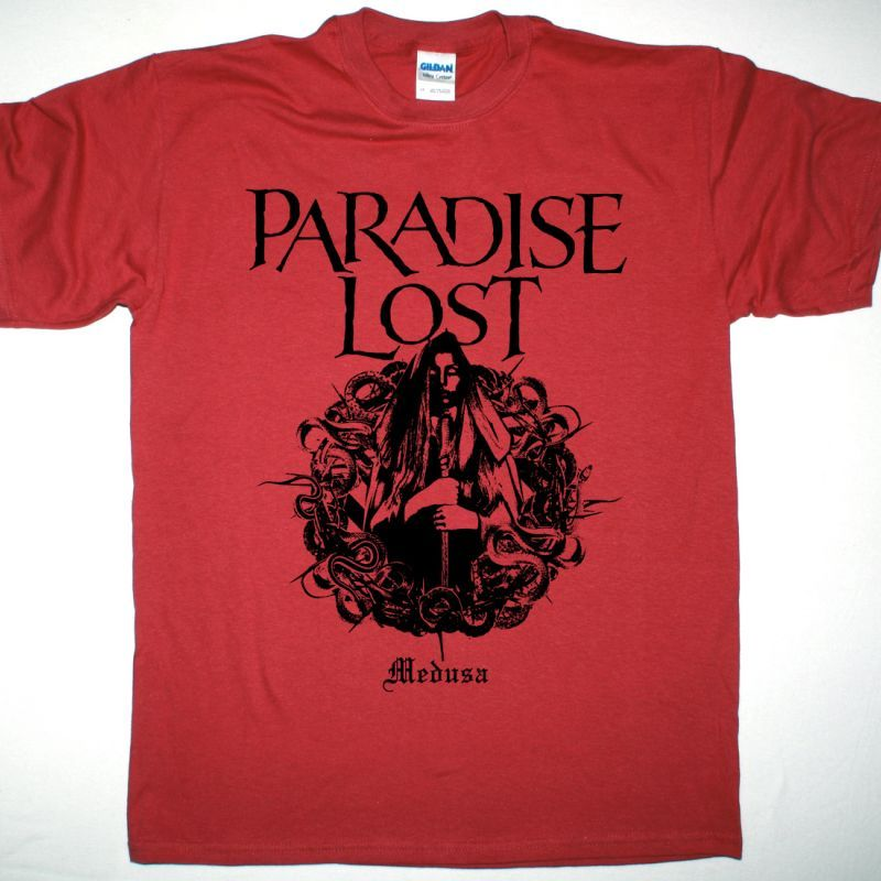 PARADISE LOST MEDUSA NEW RED T SHIRT