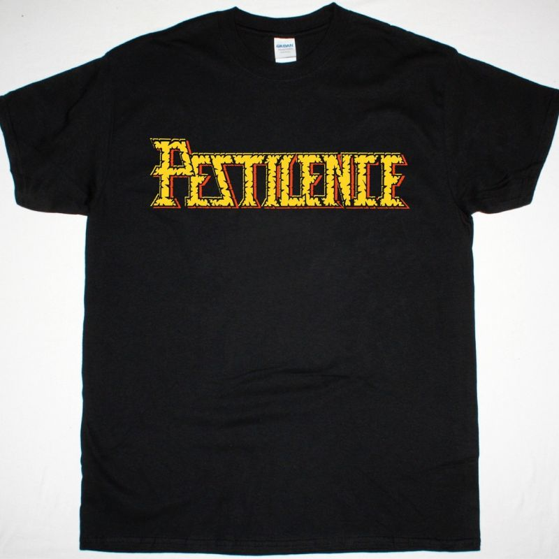PESTILENCE LOGO NEW BLACK T-SHIRT