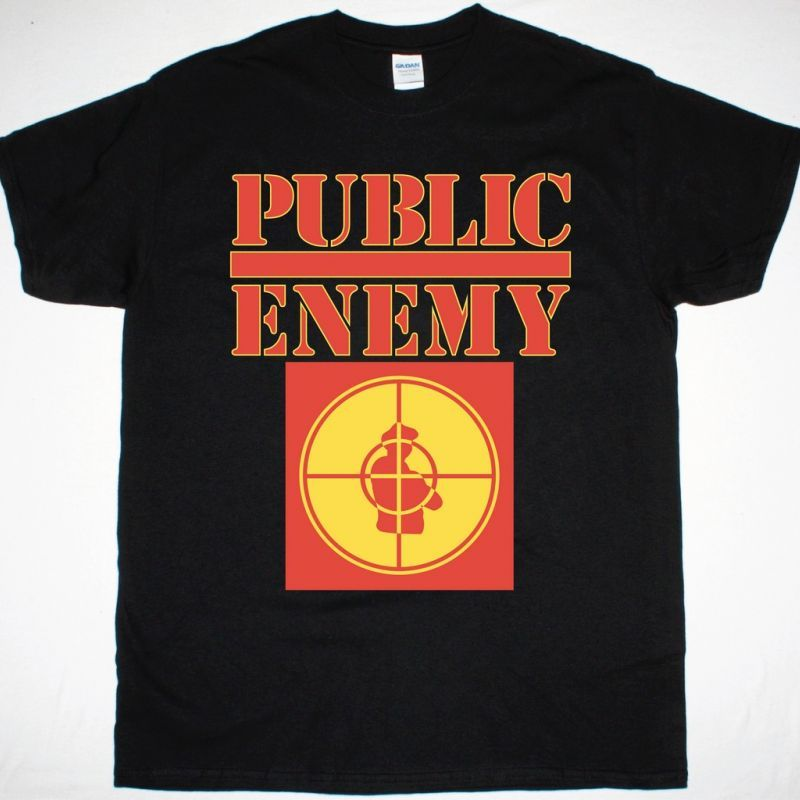 PUBLIC ENEMY LOGO NEW BLACK T-SHIRT