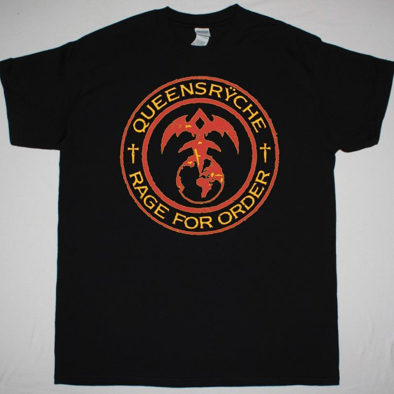 QUEENSRYCHE RAGE FOR ORDER NEW BLACK T-SHIRT