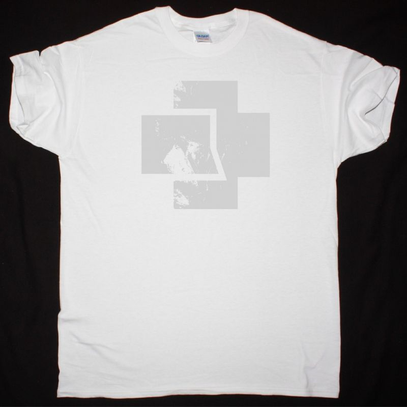 RAMMSTEIN LOGO NEW WHITE T-SHIRT