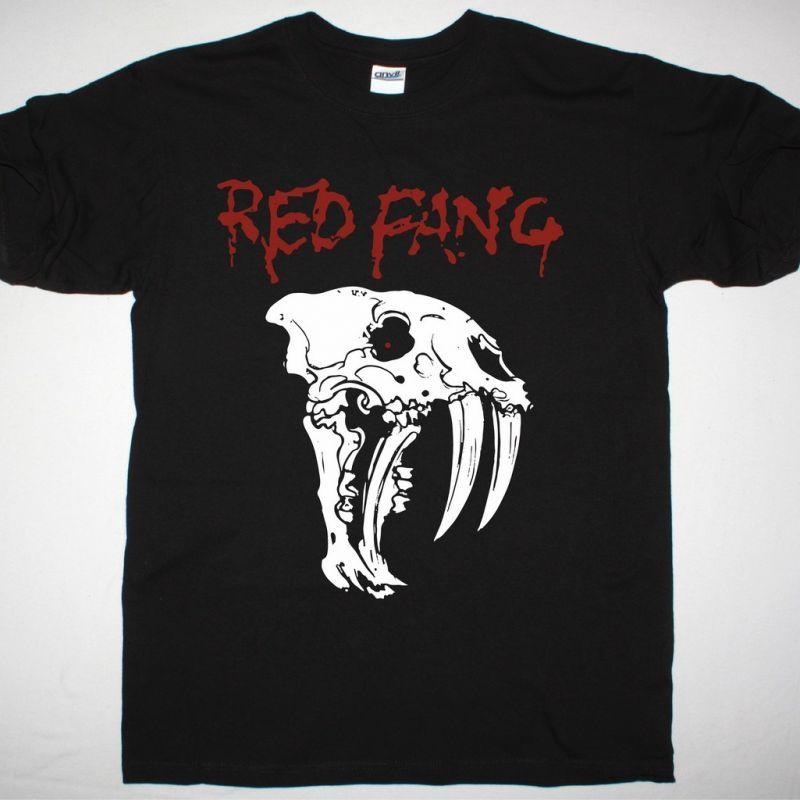 RED FANG NEW SKULL NEW BLACK T-SHIRT