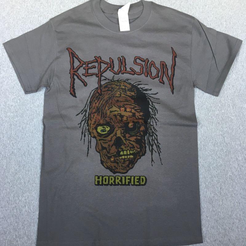 REPULSION HORRIFIED'86 NEW GREY T-SHIRT