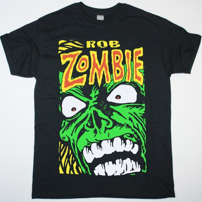 ROB ZOMBIE GREEN MONSTER NEW BLACK T SHIRT