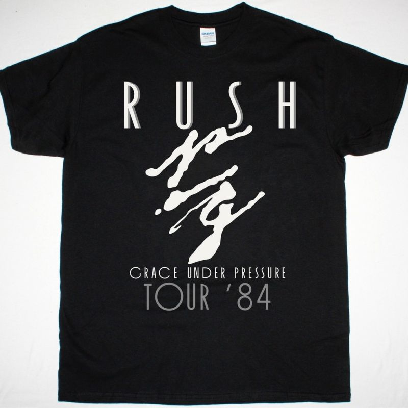 RUSH GRACE UNDER PRESSURE TOUR 84 NEW BLACK T-SHIRT