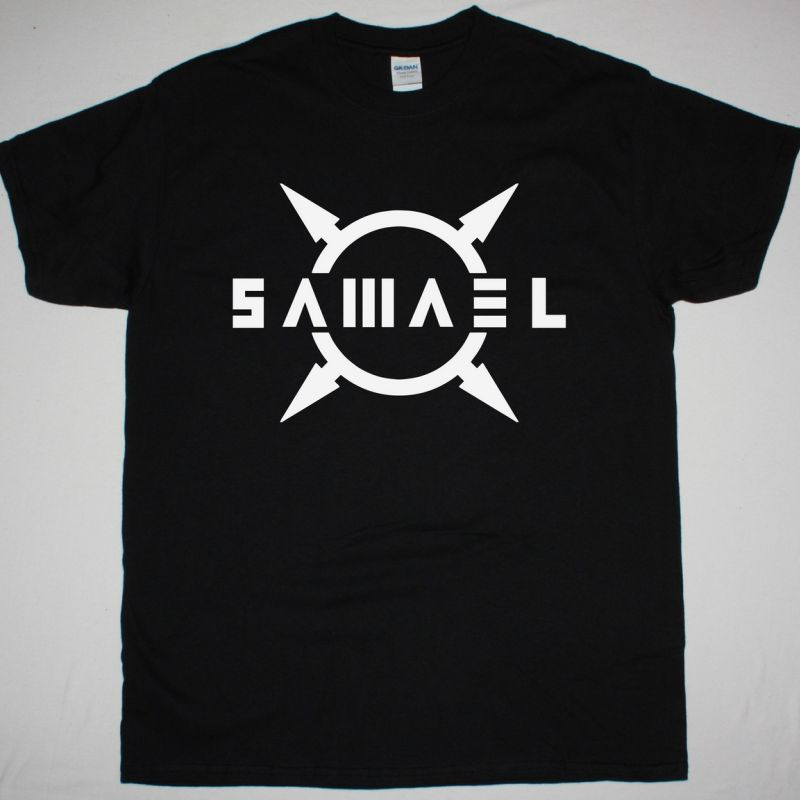 SAMAEL LOGO NEW BLACK T-SHIRT
