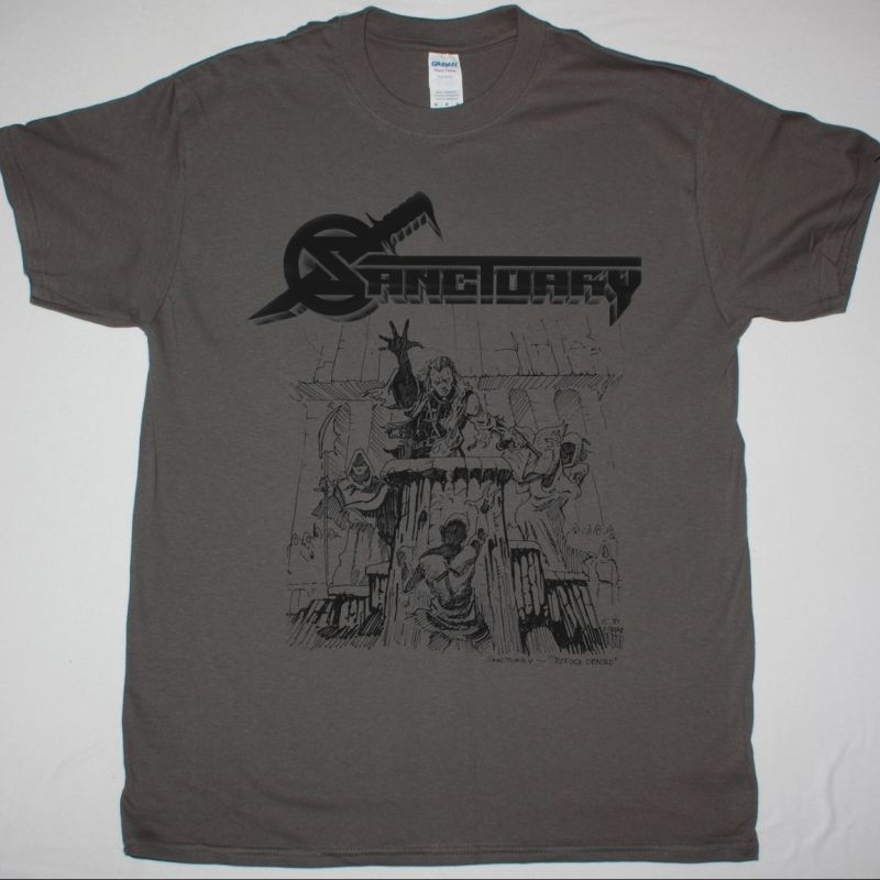 SANCTUARY REFUGE DENIED NEW GREY T-SHIRT