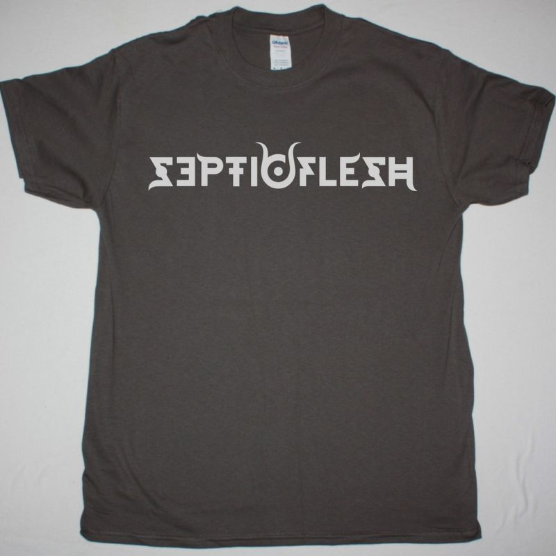 SEPTICFLESH OLD LOGO NEW GREY CHARCOAL T-SHIRT