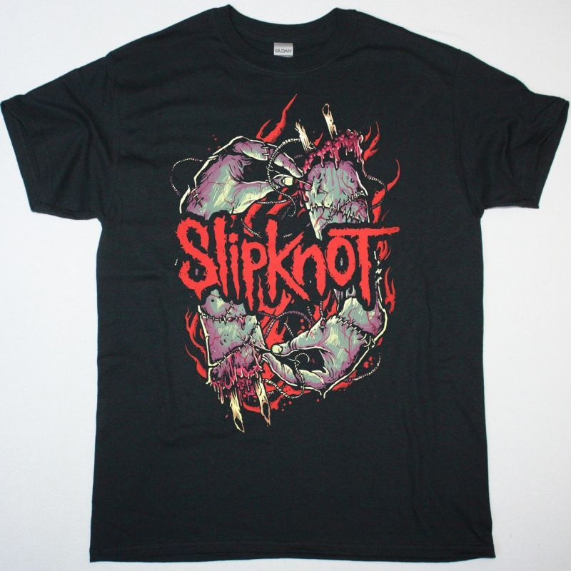 SLIPKNOT STITCH HANDS NEW BLACK T SHIRT