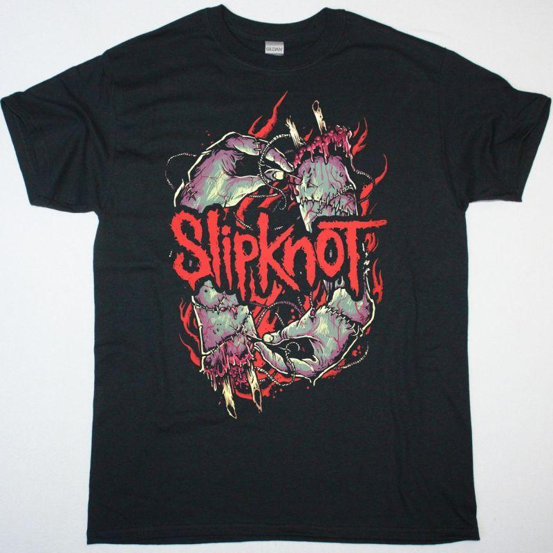 SLIPKNOT STITCH HANDS NEW BLACK T SHIRT