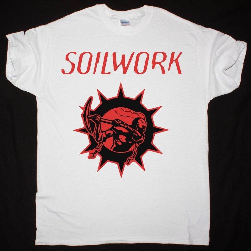 SOILWORK LOGO NEW WHITE T-SHIRT