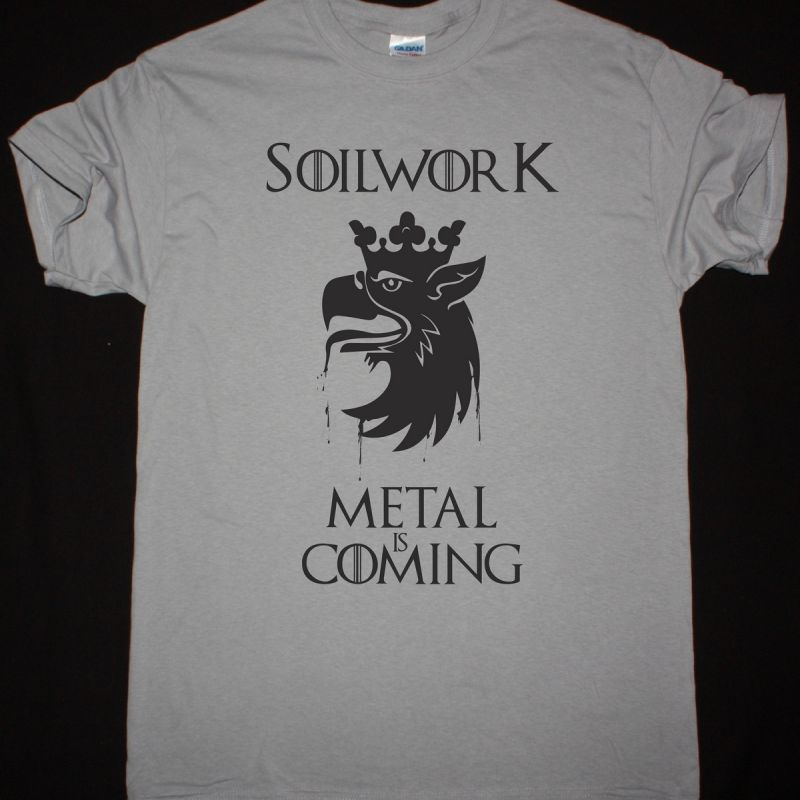 SOILWORK METAL IS COMING NEW LIGHT GREY T-SHIRT