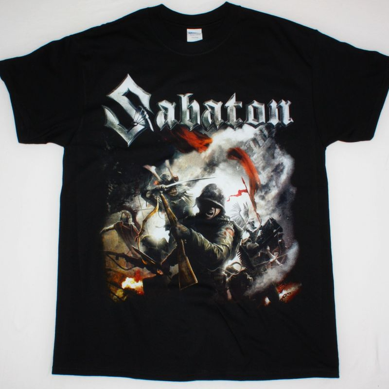 SABATON THE LAST STAND NEW BLACK T-SHIRT