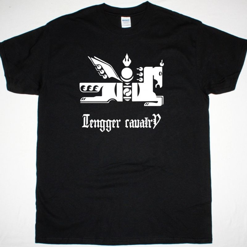 TENGGER CAVALRY WIND HORSE NEW BLACK T-SHIRT