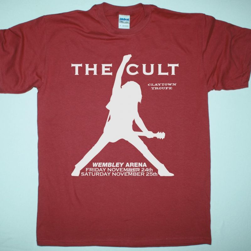 THE CULT WEMBLEY ARENA NEW RED T-SHIRT