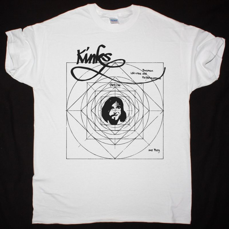 THE KINKS LOLA VERSUS POWERMAN AND THE MONEYGROUND NEW WHITE T SHIRT
