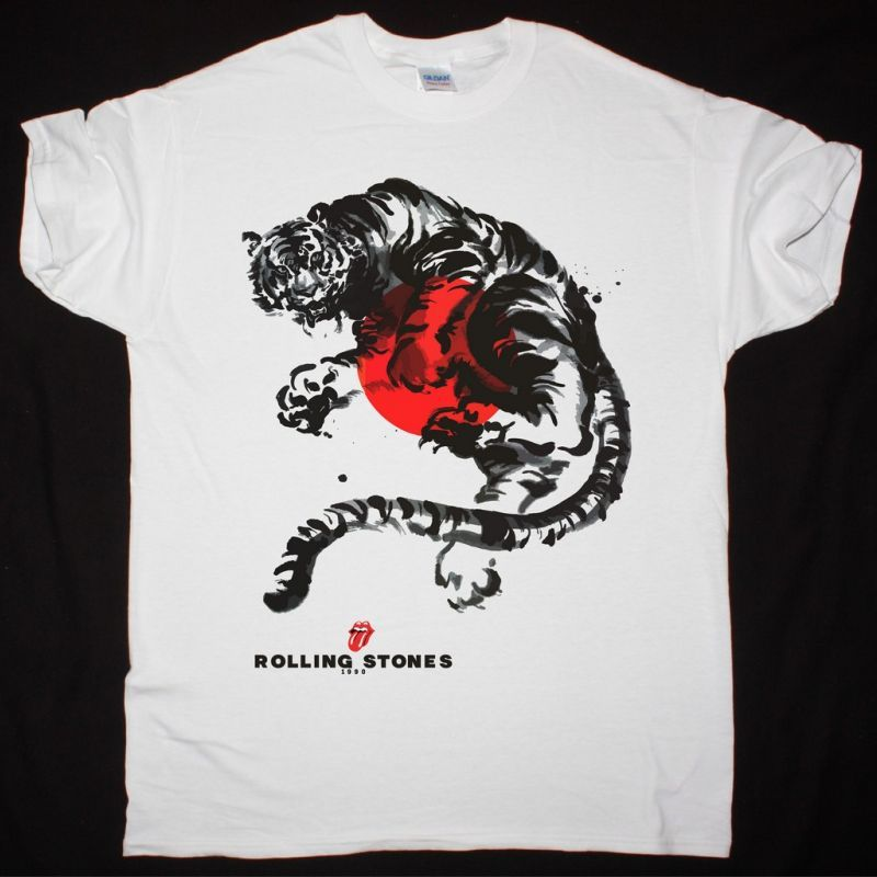 THE ROLLING STONES JAPAN TOUR 1990 NEW WHITE T-SHIRT
