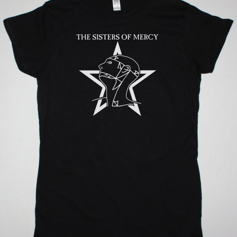 THE SISTERS OF MERCY LOGO NEW BLACK LADY T-SHIRT