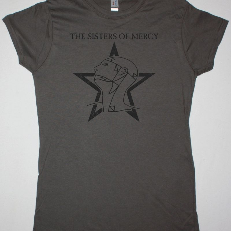 THE SISTERS OF MERCY DISTRESSED LOGO NEW GREY LADY T-SHIRT