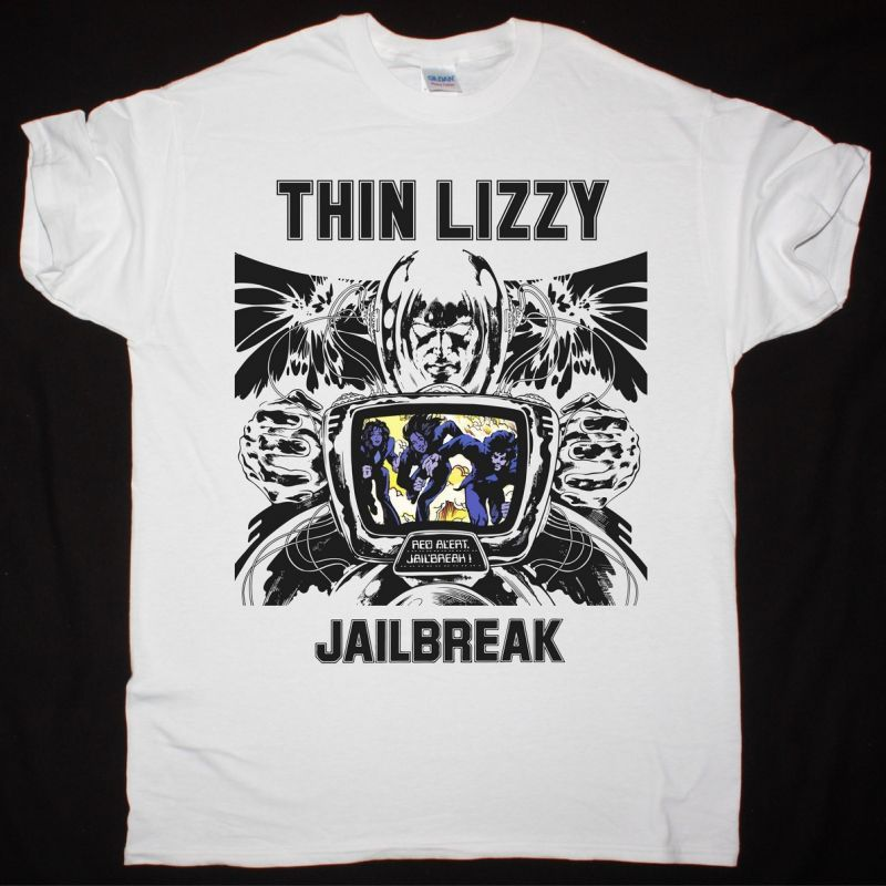 THIN LIZZY JAILBREAK NEW WHITE T-SHIRT