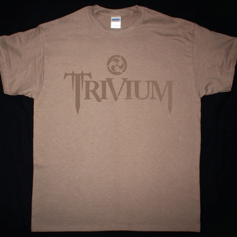 TRIVIUM CIRCLE LOGO NEW BROWN T-SHIRT