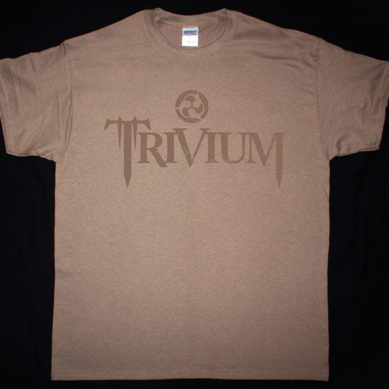 TRIVIUM CIRCLE LOGO NEW BROWN T-SHIRT