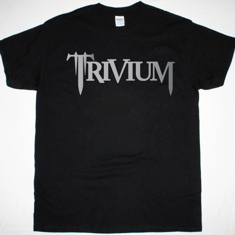 TRIVIUM LOGO NEW BLACK T-SHIRT