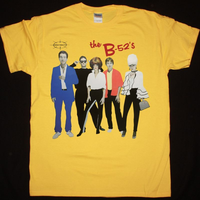 THE B-52'S 1979 NEW YELLOW T-SHIRT