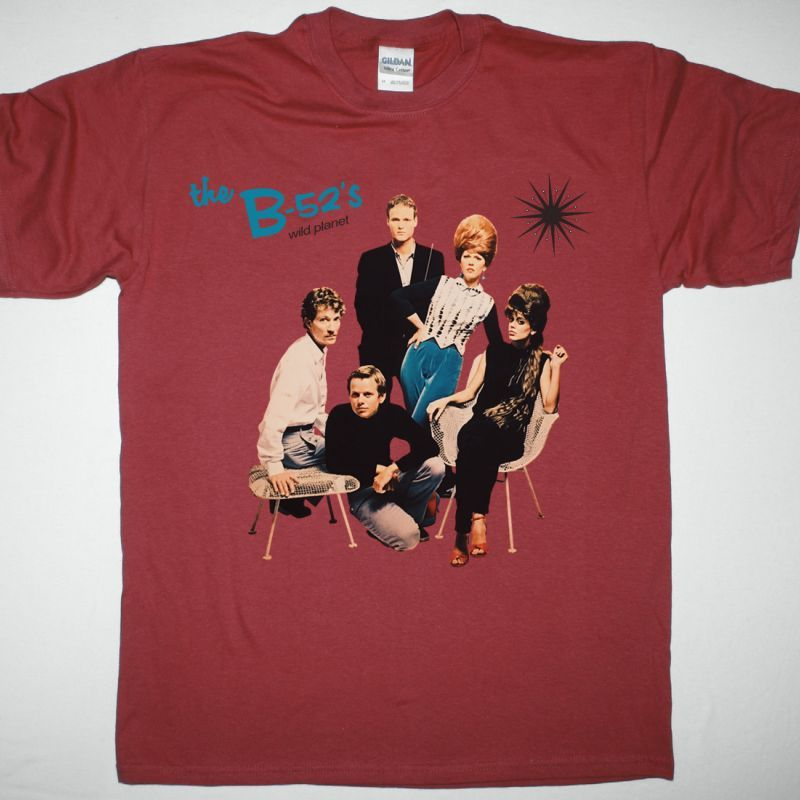 THE B-52'S WILD PLANET NEW RED T-SHIRT