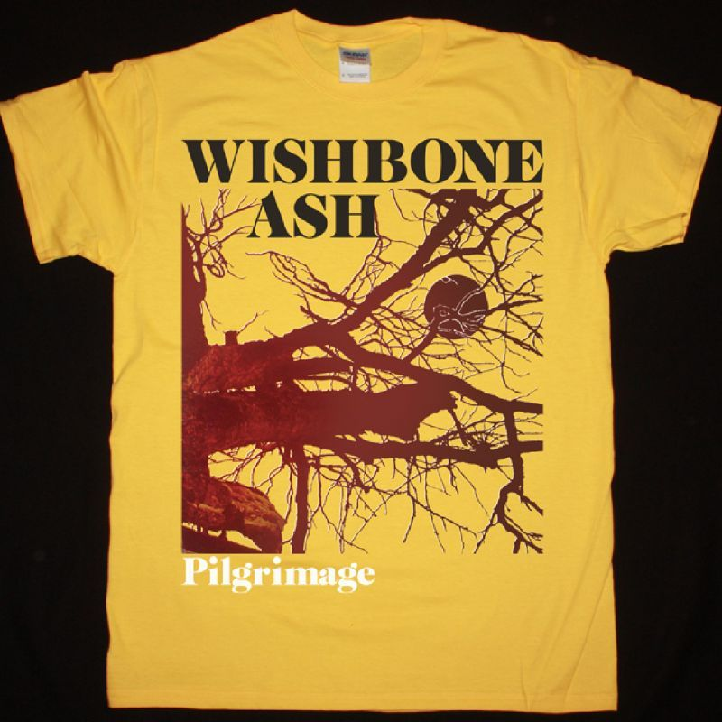 WISHBONE ASH PILGRIMAGE 1971 NEW YELLOW T SHIRT