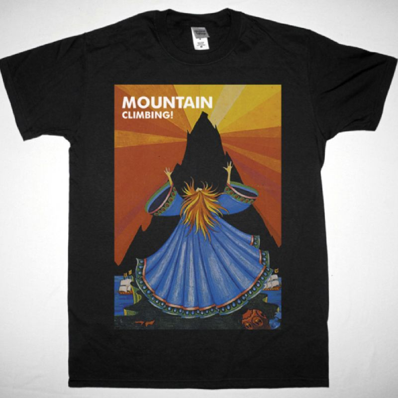 MOUNTAIN CLIMBING! 1970 NEW BLACK T SHIRT