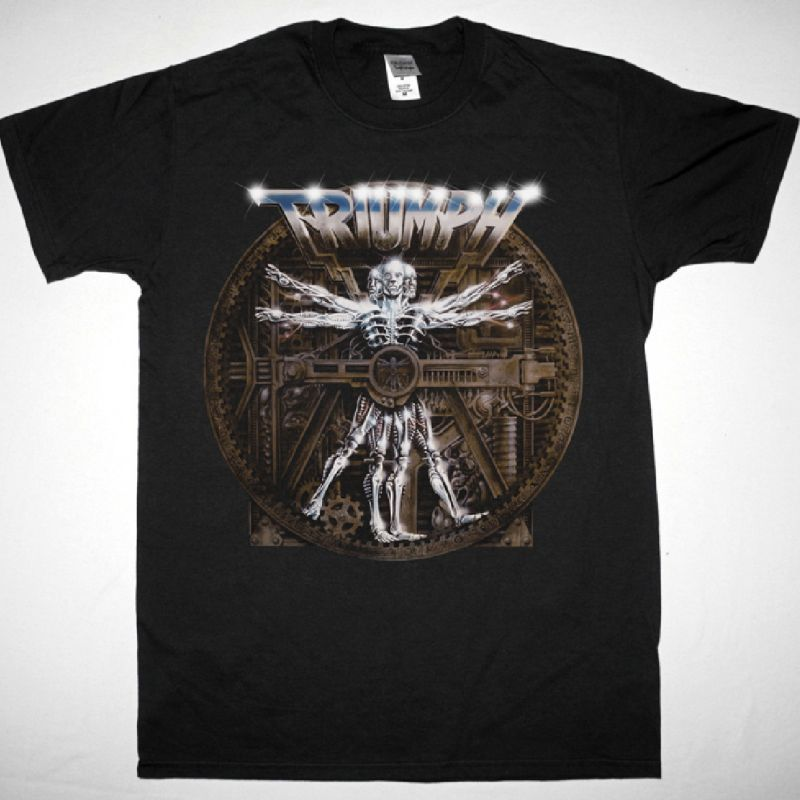 TRIUMPH THUNDER SEVEN 1984 NEW BLACK T-SHIRT