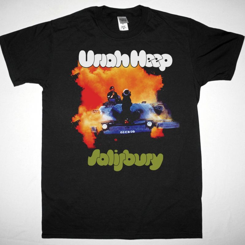 URIAH HEEP SALISBURY 1971 NEW BLACK T-SHIRT