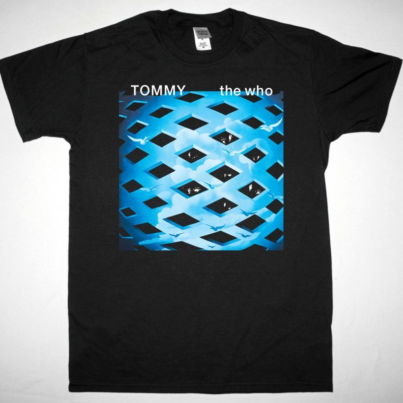 THE WHO TOMMY 1969 NEW BLACK T SHIRT