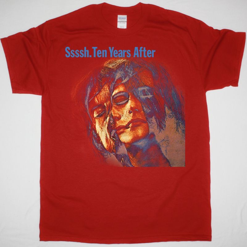 TEN YEARS AFTER SSSSH 1969 NEW RED T SHIRT