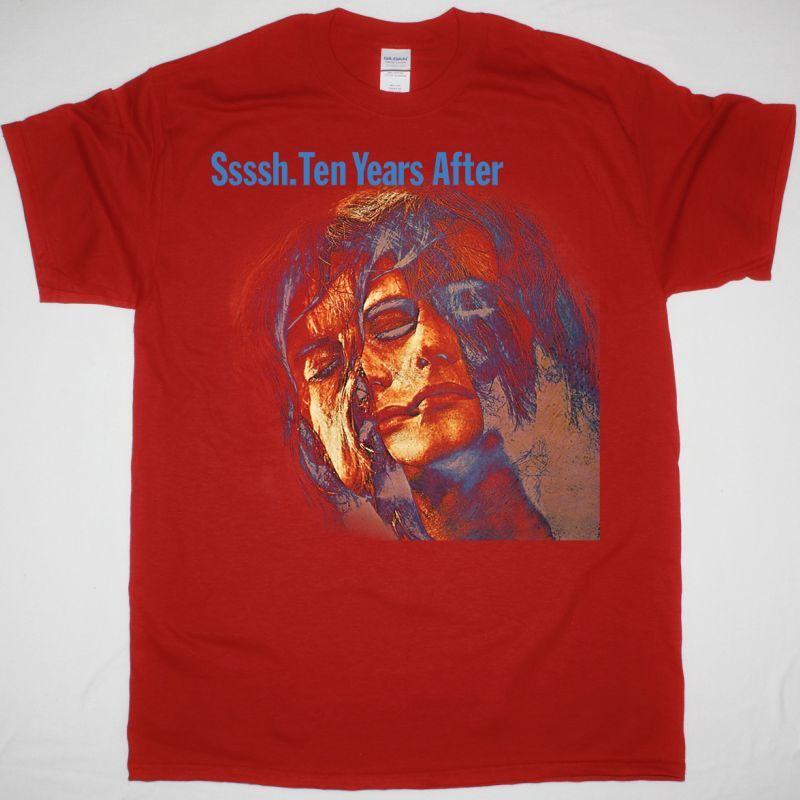 TEN YEARS AFTER SSSSH 1969 NEW RED T SHIRT