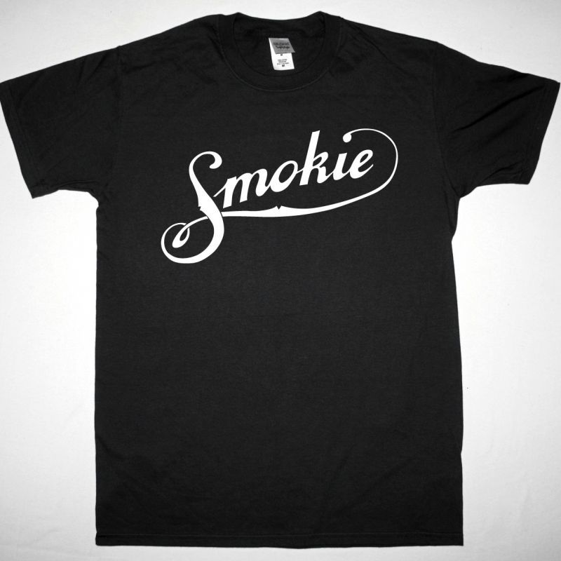 SMOKIE LOGO NEW BLACK T-SHIRT