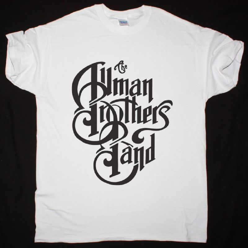 THE ALLMAN BROTHERS BAND LOGO NEW WHITE T SHIRT