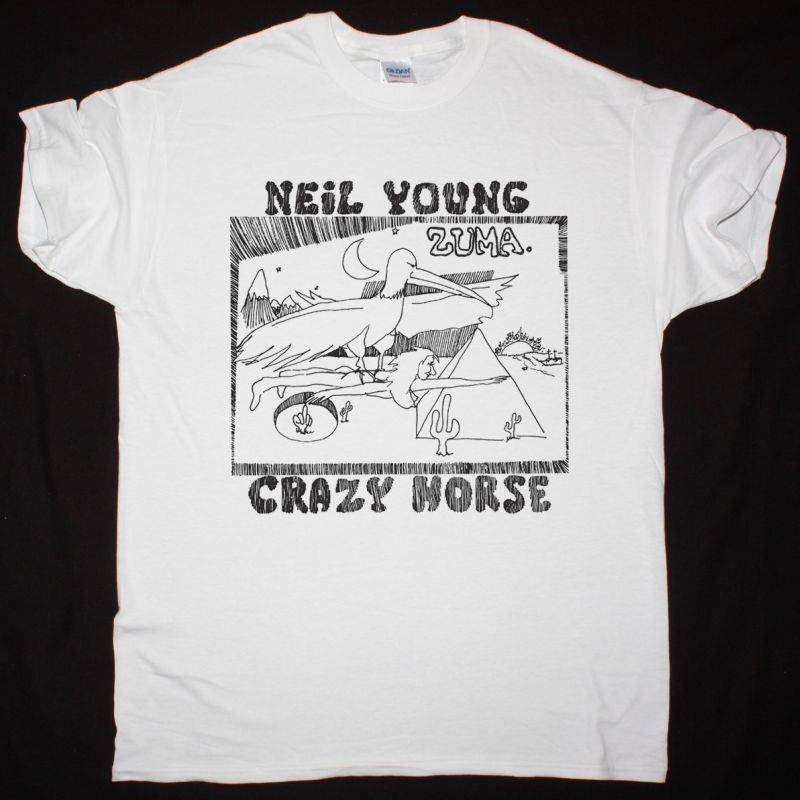 NEIL YOUNG ZUMA 1975 NEW WHITE T SHIRT